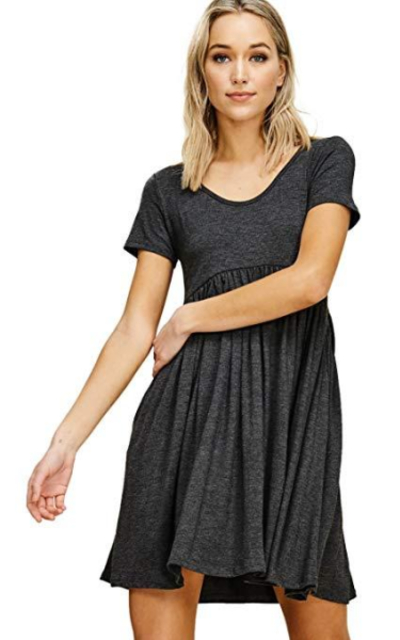 Annabelle Empire Waist Mini Dress