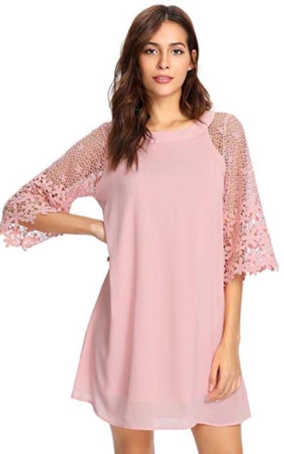 MAKEMECHIC Lace Tunic Dress