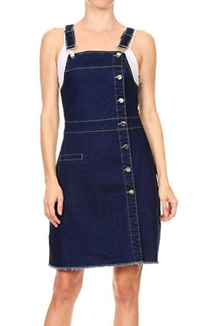 Anna-Kaci Denim Jean Overall Dress