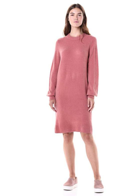 Amazon Brand - Daily Ritual Mid-Gauge Stretch Crewneck Sweater Dress