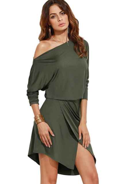 Milumia One Shoulder Side Slit Dress