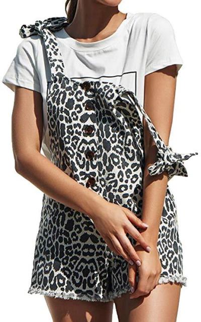 ECOWISH Leopard Overalls
