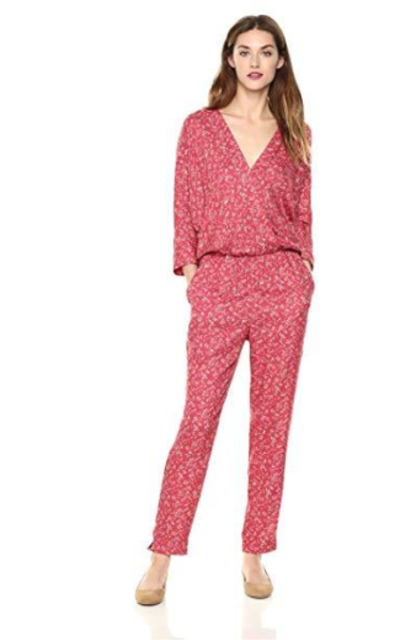 Daisy Drive 3/4 Sleeve Floral Printed Jumpsuit