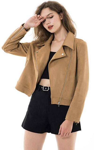 Apperloth Faux Suede Jacket