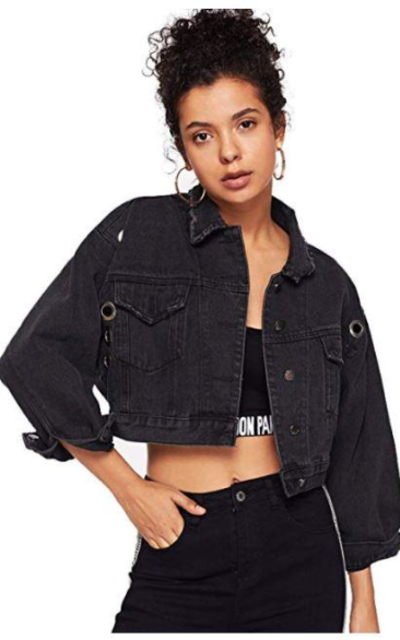Romwe Crop Boyfriend Denim Jean Jacket