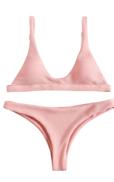 ZAFUL Padded Scoop Neck 2 Pieces Push Up Swimsuit
