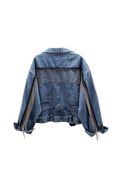 SCOFEEL Jean Jacket with Tassel