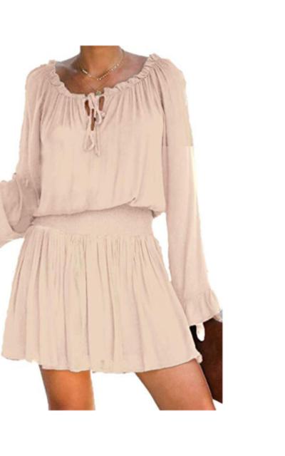 Jug&Po Elastic Waist Ruffle Mini Dress