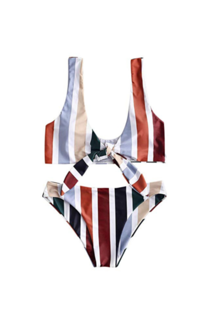 ZAFUL Colorful Striped Bikini Set
