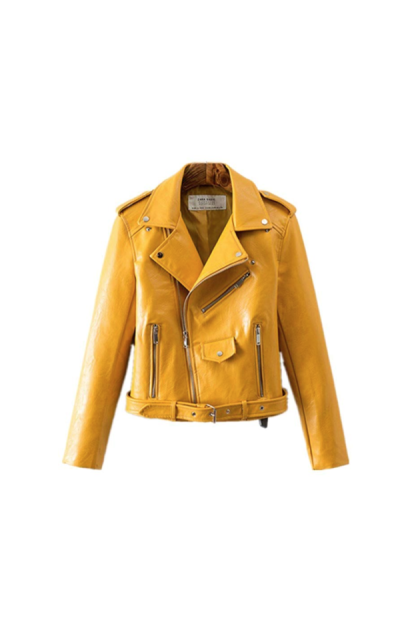 PU Leather Moto Jacket