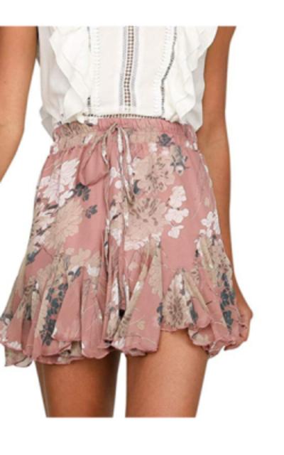 Season 4 Floral Print A line Skirt