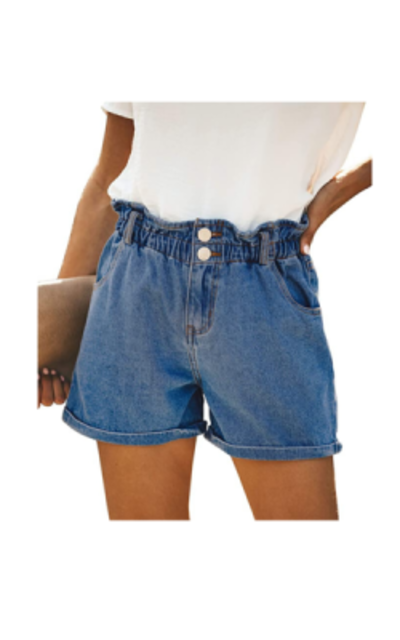 DOOLONLU High Waist Denim Shorts