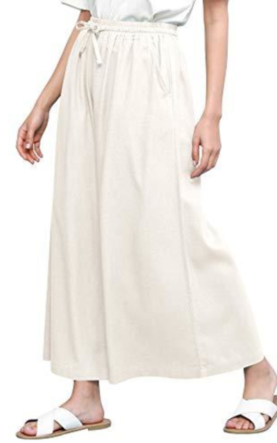 LL Washed Linen Wide Leg Pants
