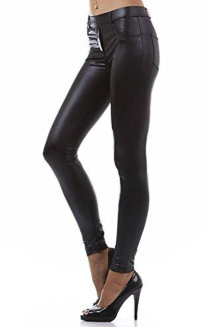Modern Kiwi Slim Fit Liquid Matte Pocket Leggings