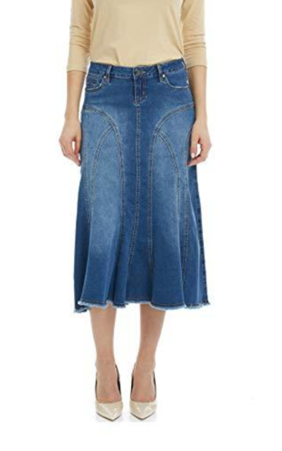 Esteez Denim Midi Skirt