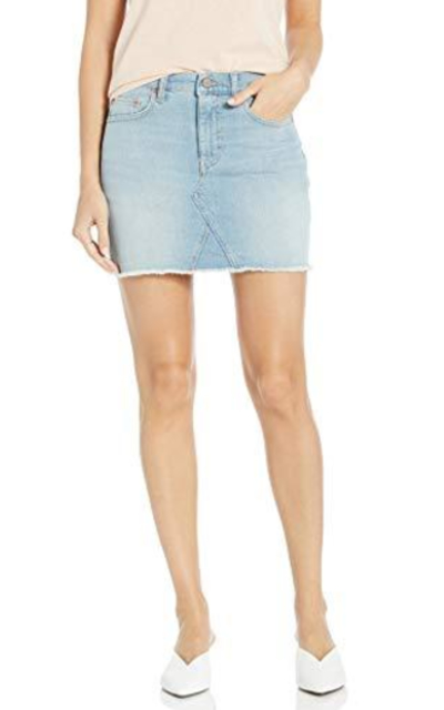 The Drop Rosemore Deconstructed Denim Mini Skirt