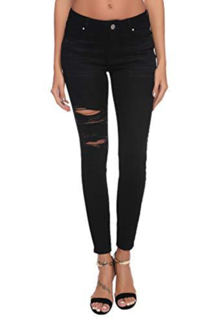 Resfeber Ripped Black Skinny Jeans