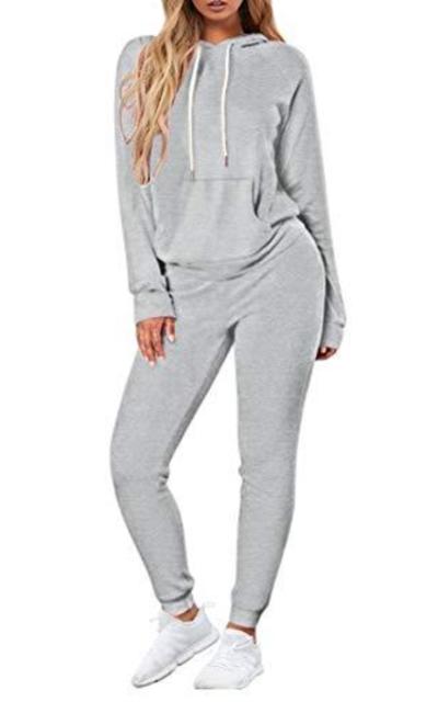 Fixmatti 2 Piece Outfit- Hoodie Sweatshirt and Sweatpants Set