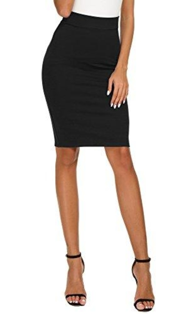 EXCHIC High Waist Bodycon Midi Pencil Skirt