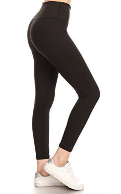 YL6-BLACK-XL Athletic Ankle Length Yoga Pants with Hidden Inner Pocket