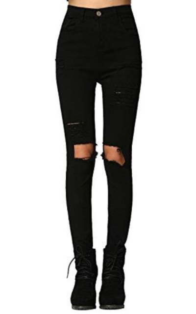 SweatyRocks Ripped Skinny Jeans