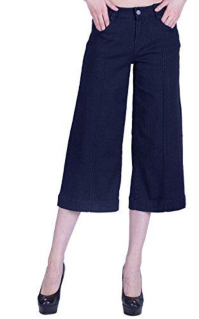 naafii  Wide Leg Capri Jeans