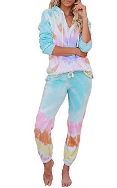 Asvivid Tie Dye Printed Loungewear Set