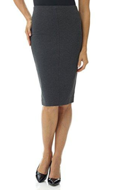 Rekucci Ease in to Comfort Pull-On  Midi Pencil Skirt