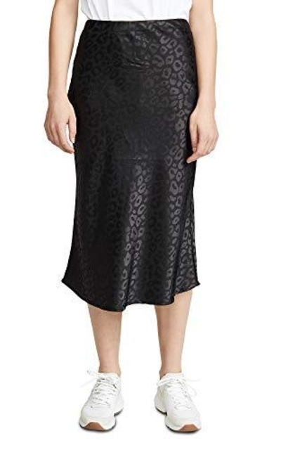 re:named Leopard Jacquard Midi Skirt