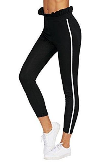 Romwe  High Waist Stripe Sweatpants