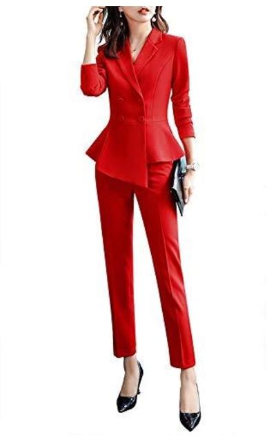 LISUEYNE 2 Pieces Office Blazer Suit Work Suit