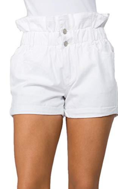 TwiinSisters Paperbag Waist Shorts with Pockets