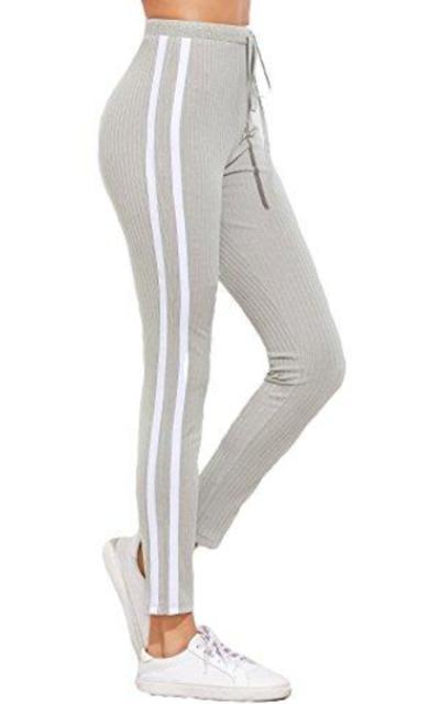 SweatyRocks Drawstring Waist Workout Legging Pant