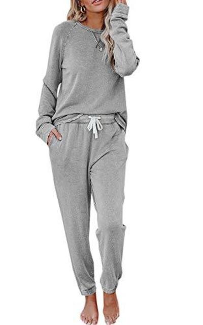Eurivicy Solid Sweatsuit Set 2 Piece Set