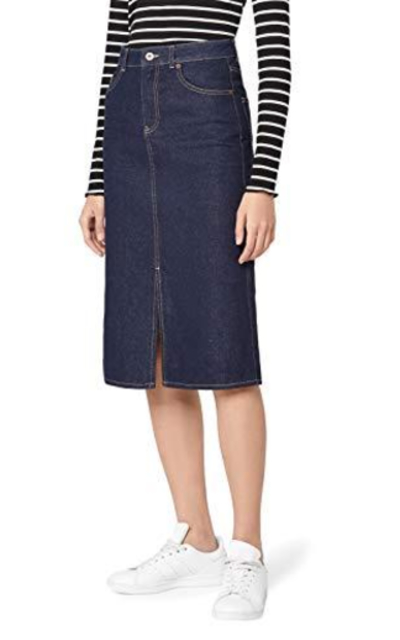 Amazon Brand - find.  Denim Midi Skirt