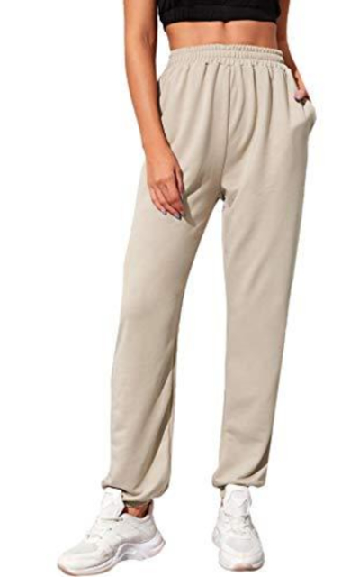 SweatyRocks  Drawstring Waist Striped Side Jogger Sweatpants