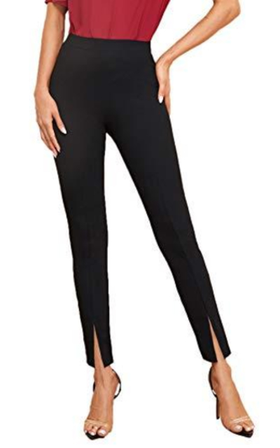 SweatyRocks Elastic Waist Skinny High Waist Pants