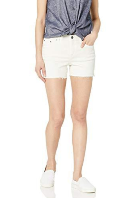 Amazon Brand - Daily Ritual Bone White Denim Shorts