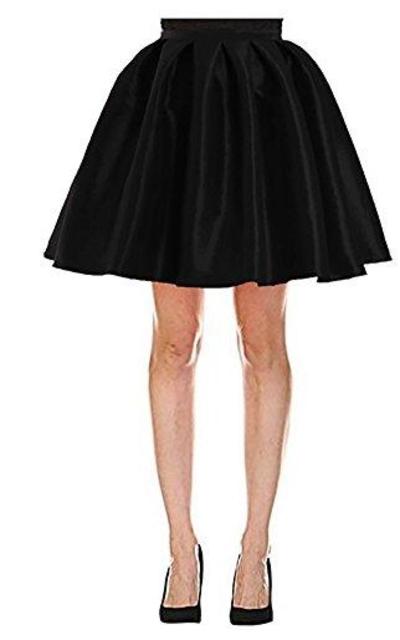 Omelas Full Satin Skater Skirt