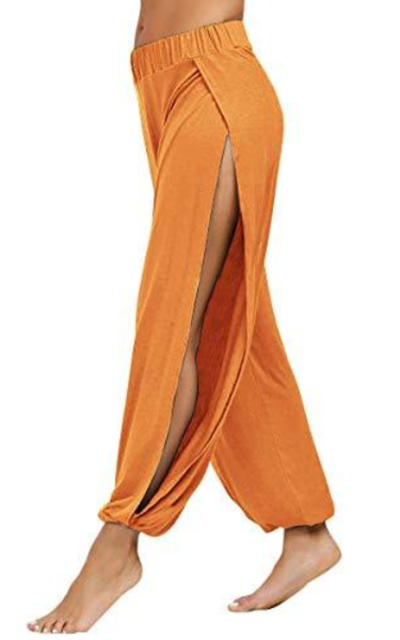 fitglam High Slit Harem Beach Pants