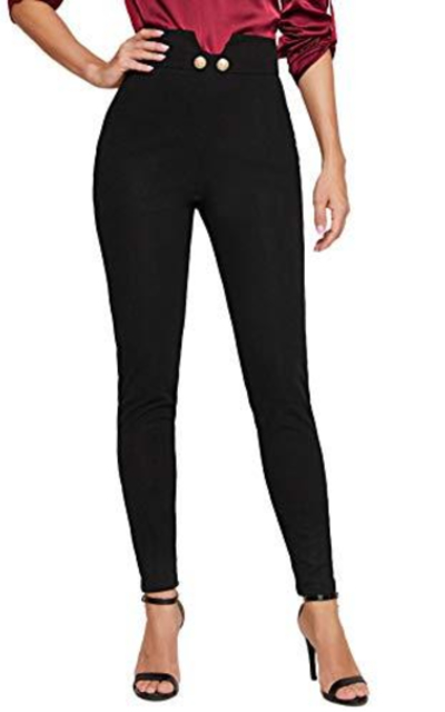 WDIRARA High Waist Button Pants