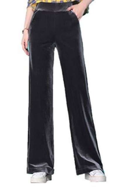 ONLYWOOD Velvet Palazzo Wide Leg Pants
