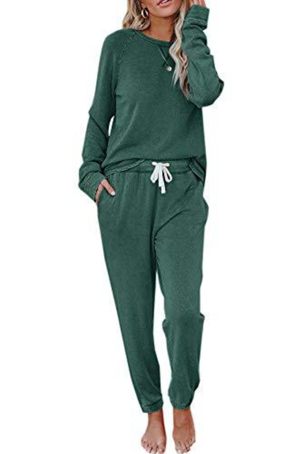 Eurivicy Sweatsuit Set 2 Piece  Pullover and Drawstring Sweatpants Set