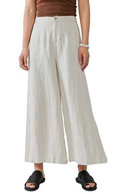 Les umes Linen Elastic Waist Trousers