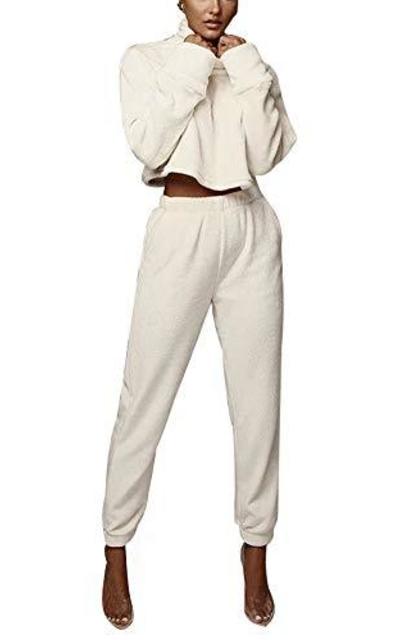 2 Piece Crop Top with Pants Set