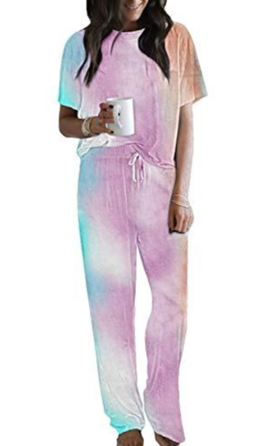 Sidefeel Women Tie Dye Printed Set