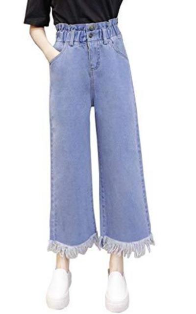D.B.M Denim Pants Elastic Waist Trousers