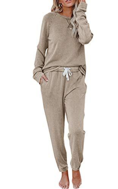 Eurivicy Solid Sweatsuit Set 2 Piece