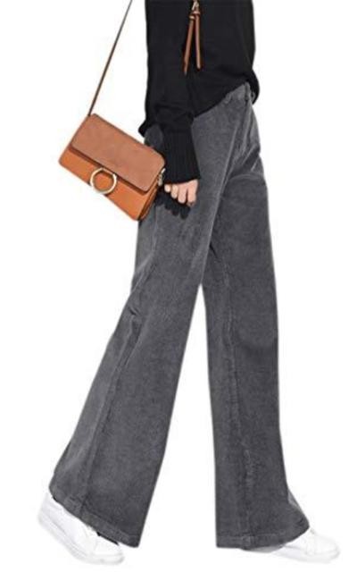 Vintage Flare-Leg Corduroy Pants