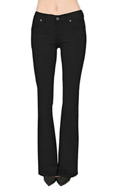 HyBrid & Company Slim Boot Cut Stretch Pants